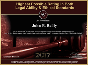 John Reilly & Associates - Legal Strike Force - Martindale-Hubbell AV Preeminent Award 2017